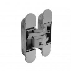 Intersteel Scharnier 130 x 30 mm zamak – zilvergrijs 3D verstelbaar