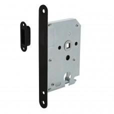 Intersteel Woningbouw magneet cilinder dag- en nachtslot 55mm, voorplaat afgerond zwart