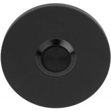 Formani BASICS KLB50 NM4 beldrukker mat zwart, met roestvast stalen drukkertje