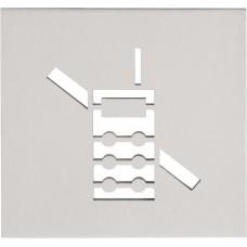 Formani SQUARE KLSQP100C IN4 pictogram gsm verboden te verlijmen mat roestvast staal