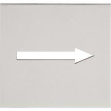 Formani SQUARE KLSQP100G IN4 pictogram pijl te verlijmen mat roestvast staal