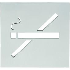 Formani SQUARE KLSQP100I IN4 pictogram niet roken te verlijmen mat roestvast staal