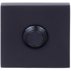 Formani SQUARE KLSQ50 NM4 massieve beldrukker mat zwart, met roestvast stalen drukkertje