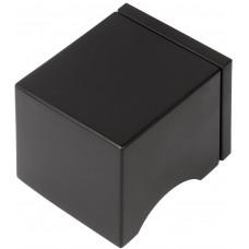 Formani SQUARE KLSQ51PD NM4 massieve knopkruk ongeveerd op rozet mat zwart