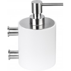 Formani ONE KPB503 INCO4 zeepdispenser met muurbevesting mat roestvast staal AISI 316/wit Corian®