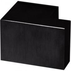 Formani SQUARE KLSQ75PD NM4 massieve knopkruk ongeveerd op rozet mat zwart